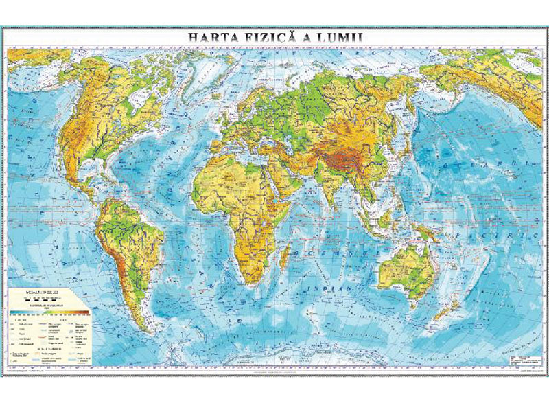 Harta Fizica A Lumii 1400x1000 Mm Cartdidact Md